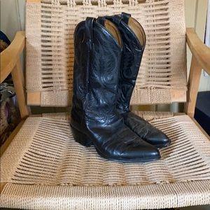 Mint Condition Tony Lama Black Cowboy Boots  Sz10
